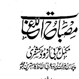 MisbahUlLughat Arabic Urdu dictionary PDF